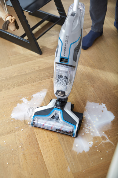 Bissell MultiFunctional Cleaner CrossWave Cordless operating, Handstick, Washing function, 36 V, Operating time (max) 25 min, Blue/Silver