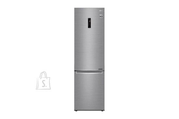 LG LG Refrigerator GBB72PZDMN Energy efficiency class E, Free standing, Combi, Height 203 cm, No Frost system, Fridge net capacity 277 L, Freezer net capacity 107 L, Display, 36 dB, Silver