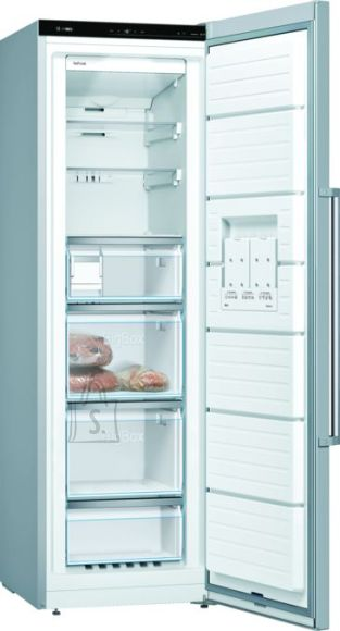 Bosch Bosch Freezer GSN36AIEP A++, Free standing, Upright, Height 186 cm, No Frost system, Display, 39 dB, Stainless steel