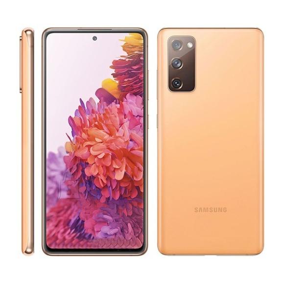 "Samsung Samsung Galaxy S20 FE Orange, 6.5 "", Super AMOLED, 1080 x 2400, Exynos 990, Internal RAM 6 GB, 128 GB, microSD, Dual SIM, Nano-SIM, 3G, 4G, Main camera 12 + 12 + 8 MP, Secondary camera 32 MP, Android, 10, 4500 mAh"