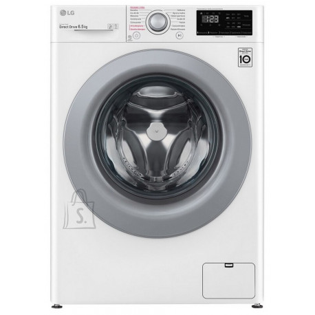 LG LG Washing machine F2WN2S6S4E Front loading, Washing capacity 6.5 kg, 1200 RPM, Direct drive, A +++ -20%, Depth 46 cm, Width 60 cm, White, Silver, Steam function, Display