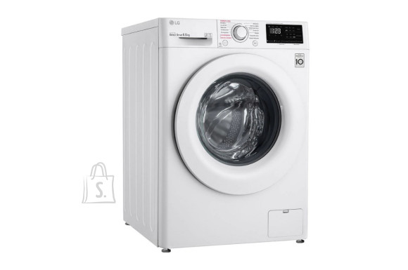 LG LG Washing machine F2WN2S6S3E Energy efficiency class E, Front loading, Washing capacity 6.5 kg, 1200 RPM, Depth 46 cm, Width 60 cm, Display, LED touch screen, Steam function, Direct drive, Wi-Fi, White
