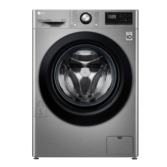 LG LG Washing machine F2WN2S6S6TE A+++ -20%, Front loading, Washing capacity 6.5 kg, 1200 RPM, Depth 46 cm, Width 60 cm, Display, LED, Steam function, Silver