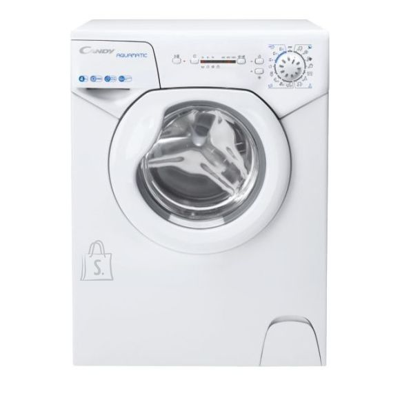 Candy Candy Washing Machine AQUA 104LE/2-S A+, Front loading, Washing capacity 4 kg, 1000 RPM, Depth 43.5 cm, Width 51 cm, Display, LED, White