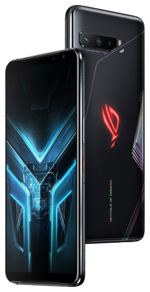 "Asus Asus ROG Phone 3 ZS661KS Black Glare, 6.59 "", AMOLED, 1080 x 2340 pixels, Qualcomm SM8250, Snapdragon 865, Internal RAM 8 GB, 256 GB, Dual SIM, Nano-SIM, 3G, 4G, 5G, Main camera 64+13+5 MP, Secondary camera 24 MP, Android, 10, 6000 mAh"