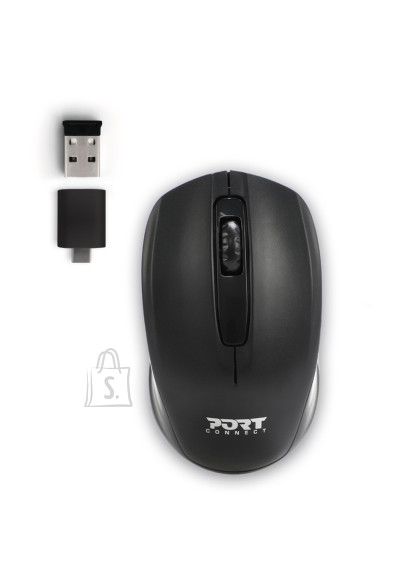 Port Designs PORT DESIGNS Office Budget Retail Mouse 900508 Wireless, Black