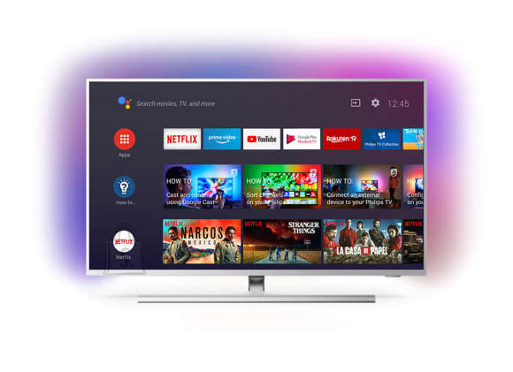 """Philips Philips 65PUS8505/12 65"""" (164 cm), Smart TV, Android, 4K UHD, 3840 x 2160, Wi-Fi, DVB-T/T2/T2-HD/C/S/S2, Silver"""