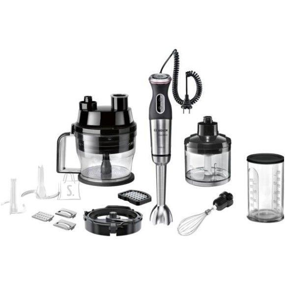 Bosch Bosch Blender MaxoMixx MS8CM61X1 Hand Blender, 1000 W, Number of speeds 12, Turbo mode, Chopper, Black/Stainless steel