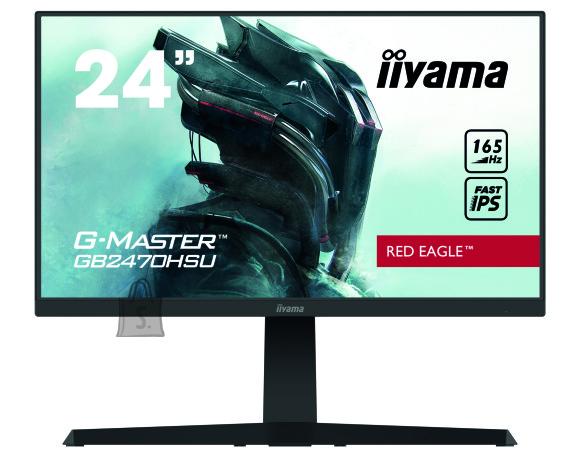 "Iiyama Iiyama Gaming Monitor GB2470HSU-B1 24 "", IPS, 1920 x 1080 pixels, 16:9, 0.8 ms, 250 cd/m?, Matte, black, HDCP, Headphone connector, Warranty 36 month(s)"