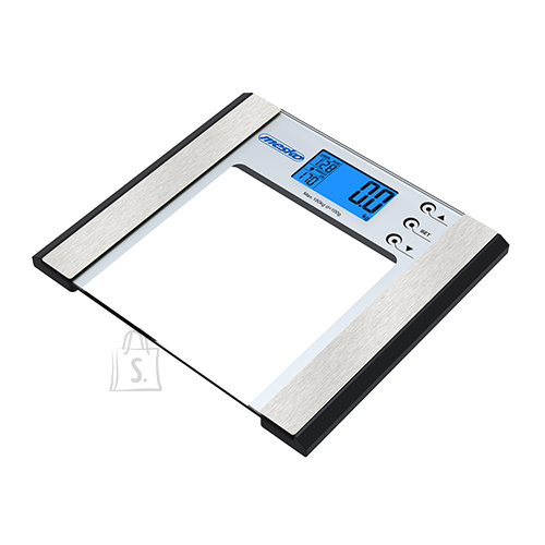 Mesko Mesko Bathroom Scale with Analyzer MS 8146 Electronic, Maximum weight (capacity) 180 kg, Accuracy 100 g, Body Mass Index (BMI) measuring, Stainless steel/Glass