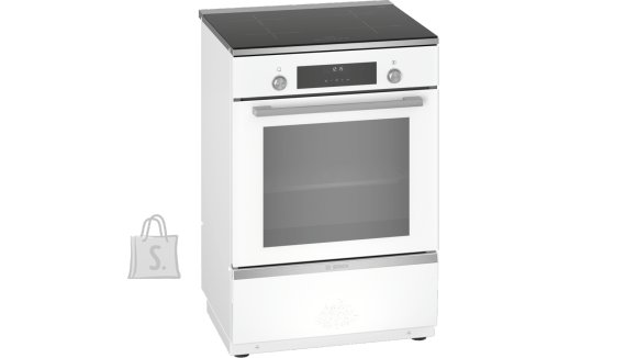 Bosch Bosch Cooker HLT59E020U Integrated timer, Hob type Induction, Oven type Electric, White, Width 60 cm, Electronic ignition, Grilling, LCD, 66 L, Depth 60 cm
