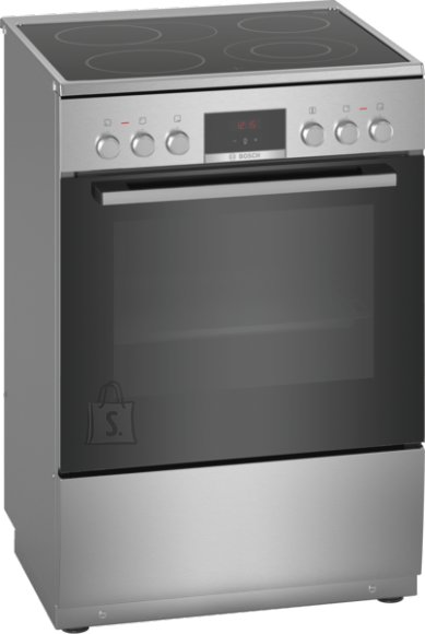 Bosch Bosch Cooker HKR39A250U Hob type Vitroceramic, Oven type Electric, Stainless steel, Width 60 cm, Electronic ignition, Grilling, LED, 66 L, Depth 60 cm