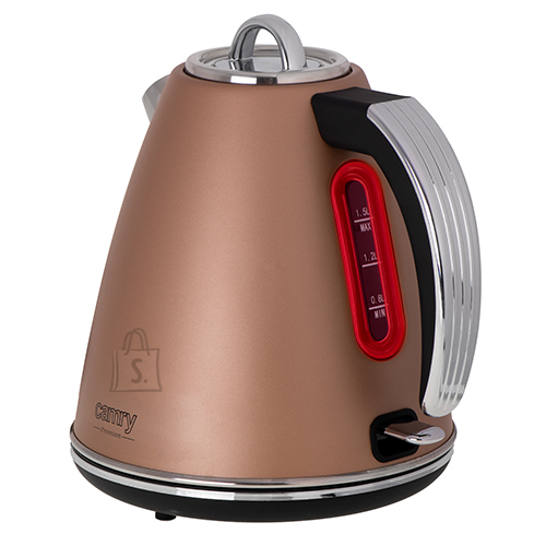 Camry Camry Kettle CR 1292 Electric, 2200 W, 1.5 L, Stainless steel, 360° rotational base, Bronze