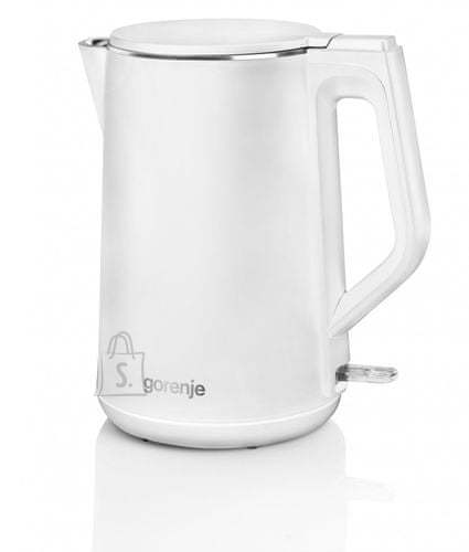 Gorenje Gorenje Kettle K15DWW Electric, 2200 W, 1.5 L, Plastic + metal, 360° rotational base, White