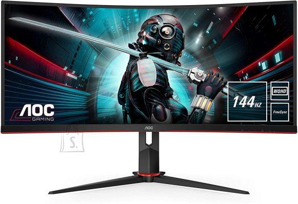 "AOC AOC Gaming Monitor CU34G2X 34 "", VA, QHD, 3440 x 1440 pixels, 21:9, 1 ms, 300 cd/m?, Black"