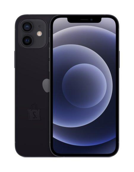 "Apple Apple iPhone 12 Black, 6.1 "", XDR OLED, 2532 x 1170 pixels, Apple, A14 Bionic, Internal RAM 4 GB, 64 GB, Single SIM, Nano-SIM and eSIM, 3G, 4G, Main camera Dual 12+12 MP, Secondary camera 12 MP, iOS, 14, 2815 mAh"