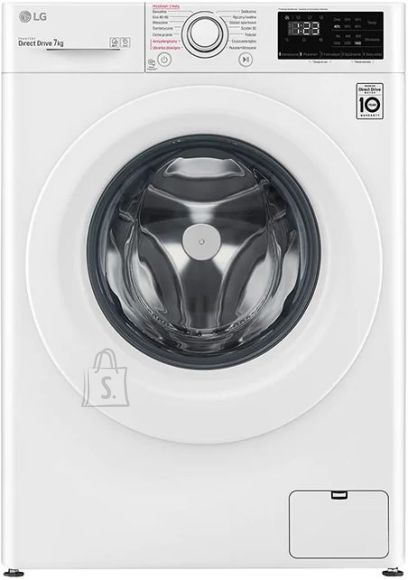 LG LG Washing Machine F4WN207S3E A +++ - 30%, Front loading, Washing capacity 7 kg, 1400 RPM, Depth 56 cm, Width 60 cm, Display, LED, Steam function, White