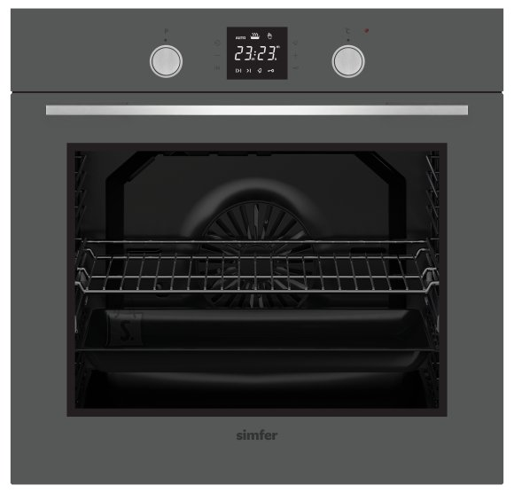Simfer Simfer Oven 8408EERSC 80 L, Multifunctional, Easy to Clean Enameled Cavity, Touch/Pop-up knobs, Width 60 cm, Silver