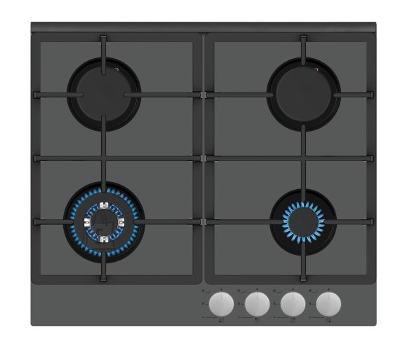 Simfer Simfer Hob H6 403 TGWSC Built-In Gas Hob, Number of burners/cooking zones 3 + 1 Wok Burner, Mechanical, Silver