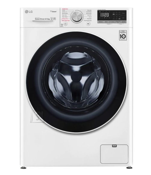 LG LG Washing machine with steam function F2WN4S6S0 Energy efficiency class E, Front loading, Washing capacity 6.5 kg, 1200 RPM, Depth 45.5 cm, Width 60 cm, Display, LED, Steam function, Direct drive, White