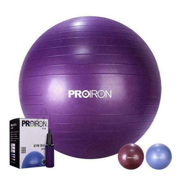 PROIRON Exercise Yoga Ball Balance Ball, Diameter: 55 cm, Thickness: 2 mm, Purple, PVC