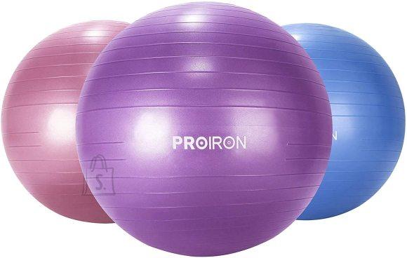 PROIRON Exercise Yoga Ball Balance Ball, Diameter: 65 cm, Thickness: 2 mm, Purple, PVC