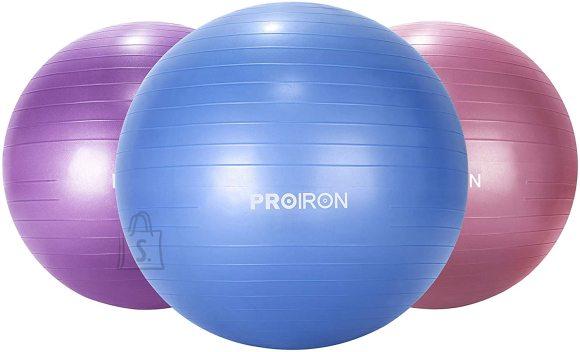 PROIRON Exercise Yoga Ball Balance Ball, Diameter: 75 cm, Thickness: 2 mm, Blue, PVC