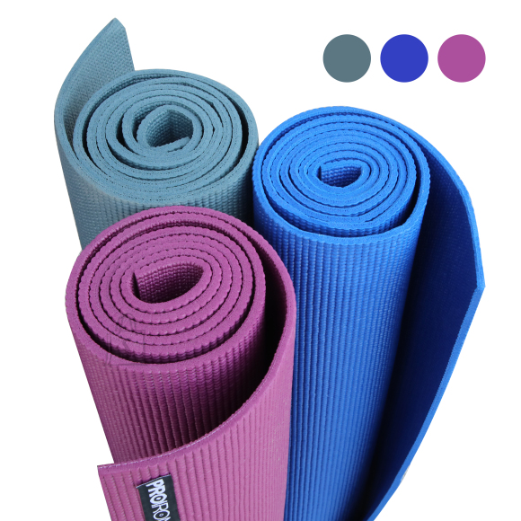PROIRON Yoga Mat Exercise Mat, 173 cm x 61 cm x 0.35 cm, Premium carry bag included, Purple, Eco-friendly PVC