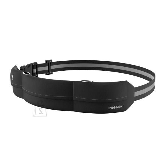 PROIRON Runners Waist Pack Running Belt, 46 x 9 cm; Waist size: 63 - 110 cm, Black