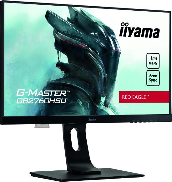 "Iiyama Iiyama Gaming Monitor G-Master GB2760HSU-B1 C 27 "", TN, 1920 x 1080 pixels, 16:9, 1 ms, 400 cd/m?, Black, matte, HDCP, Headphone connector"