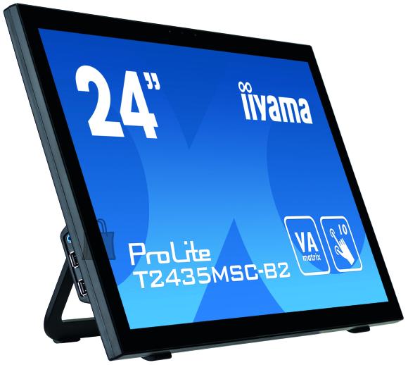 "Iiyama Iiyama Touch screen monitor with edge-to-edge glass and webcam PROLITE T2435MSC-B2 24 "", Touchscreen, VA, 1920 x 1080 pixels, 16:9, 6 ms, 250 cd/m?, Black, matte"