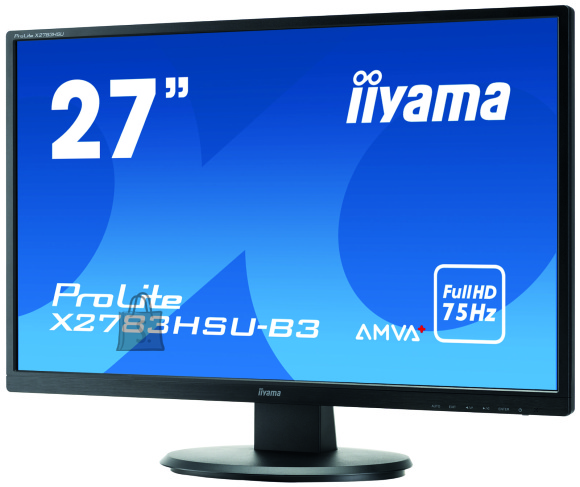 "Iiyama Iiyama High-end monitor PROLITE X2783HSU-B3 27 "", AMVA+, 1920 x 1080 pixels, 16:9, 4 ms, 300 cd/m?, Black, matte, Headphone"
