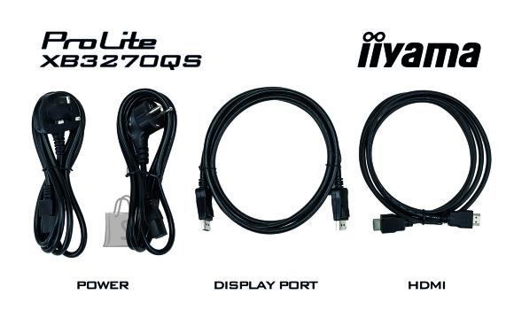 "Iiyama Iiyama Monitor PROLITE XB3270QS-B1 31.5 "", IPS, 2560 x 1440 pixels, 16:9, 4 ms, 250 cd/m², Black, matte, Headphone"
