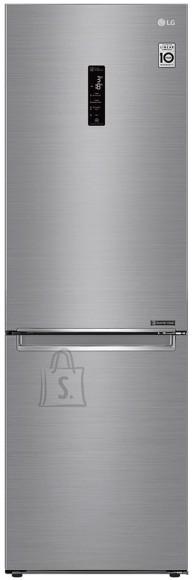 LG LG Refrigerator GBB71PZDMN Energy efficiency class E, Free standing, Combi, Height 186 cm, No Frost system, Fridge net capacity 234 L, Freezer net capacity 107 L, Display, 36 dB, Silver