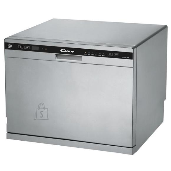 Candy Candy Dishwasher CDCP 8S Free standing, Width 55 cm, Number of place settings 8, Number of programs 6, A+, Silver