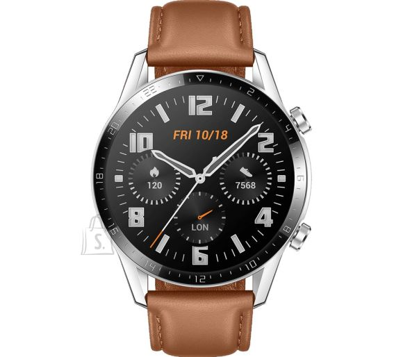 Huawei Huawei GT 2 (46 mm) Smart watch, GPS (satellite), AMOLED, Touchscreen, Heart rate monitor, Activity monitoring 24/7, Waterproof, Bluetooth, Pebble Brown