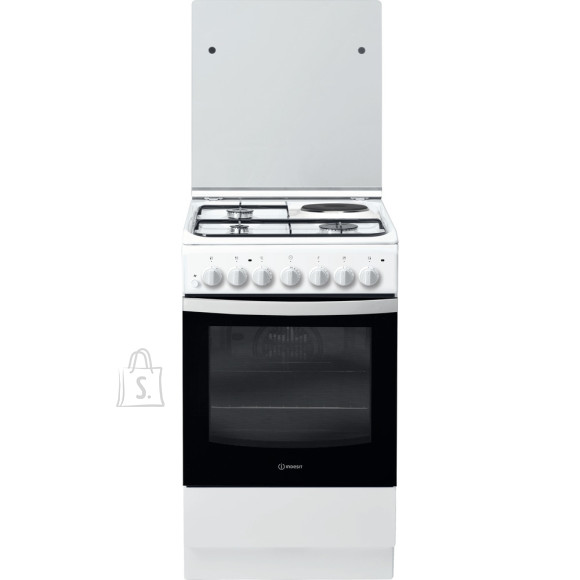 Indesit INDESIT Cooker IS5M5PCW/E Hob type 3 Gas + 1 Electric, Oven type Electric, White, Width 50 cm, Grilling, 59 L, Depth 60 cm