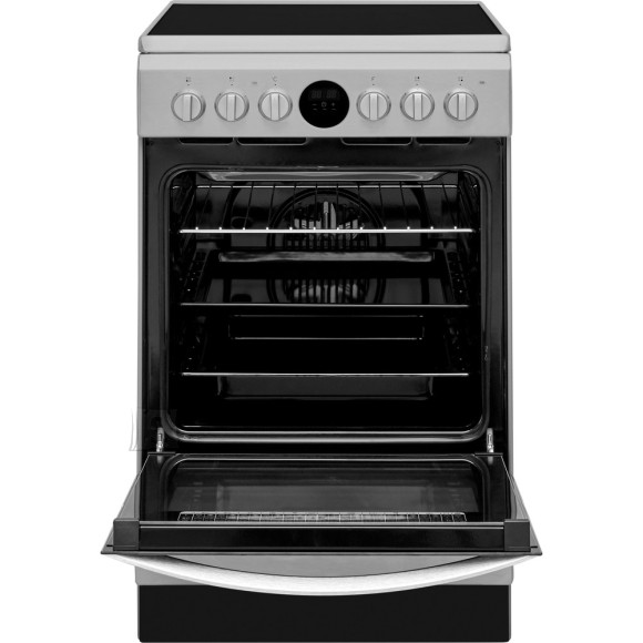 Indesit INDESIT Cooker IS5V8CHX/E Hob type Electric, Oven type Electric, Stainless steel, Width 50 cm, Grilling, Electronic, 57 L, Depth 60 cm
