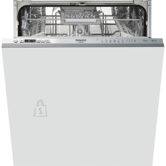 Hotpoint Dishwasher HIC 3C41 CW Built-in, Width 59.8 cm, Number of place settings 14, Number of programs 6,  A +++, Display, Silver