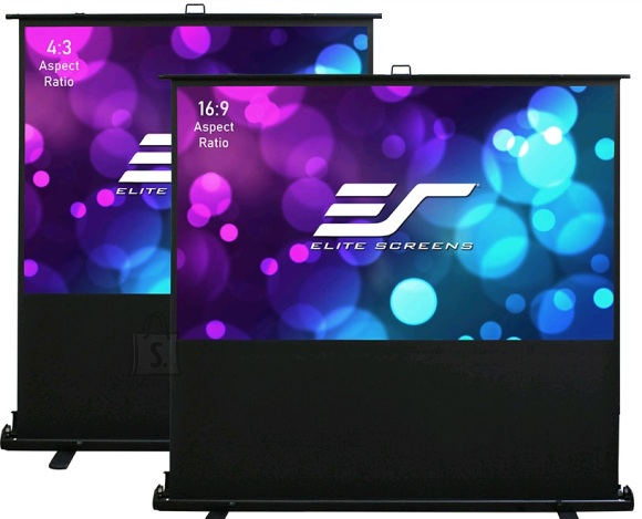"Elite Screens Elite Screens F107XWH2 Portable Screen, 107"", 16:9, Black"