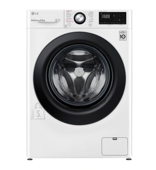 LG LG Washing machine F2WN2S6N6E A+++ -20%, Front loading, Washing capacity 6.5 kg, 1200 RPM, Depth 45.5 cm, Width 60 cm, Display, LED, Steam function, Direct drive, White