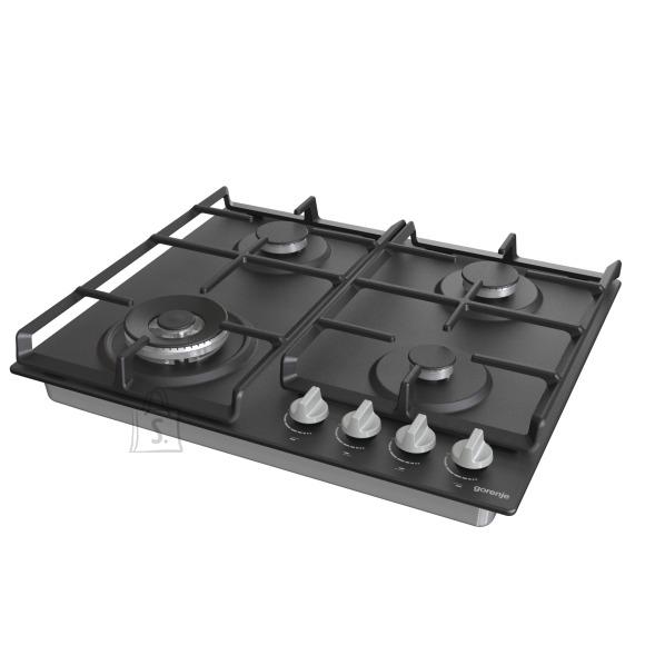 Gorenje Gorenje Hob GW641EXB Gas, Number of burners/cooking zones 4, Mechanical, Black