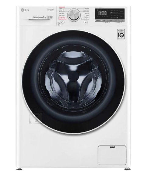 LG LG Washing machine with steam function F4WN409S0 A+++ -30%, Front loading, Washing capacity 9 kg, 1400 RPM, Depth 56.5 cm, Width 60 cm, Display, LED, Steam function, Direct drive, White