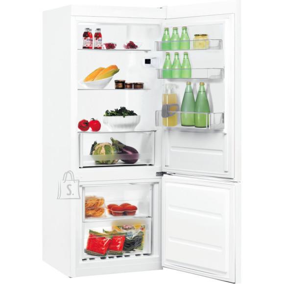Indesit INDESIT Refrigerator LI6 S1E W A+, Free standing, Combi, Height 158.8 cm, Fridge net capacity 197 L, Freezer net capacity 75 L, 39 dB, White