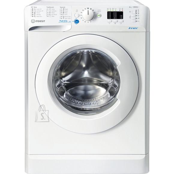 Indesit INDESIT Washing machine BWSA 61251 W EE N Energy efficiency class F, Front loading, Washing capacity 6 kg, 1200 RPM, Depth 42.5 cm, Width 59.5 cm, Display, LED Plus, White