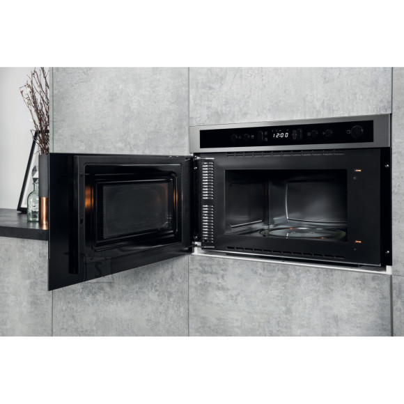 Hotpoint Multifunction  Microwave oven MN 512 IX HA Built-in, 22 L, 750 W, Stainless steel/Black