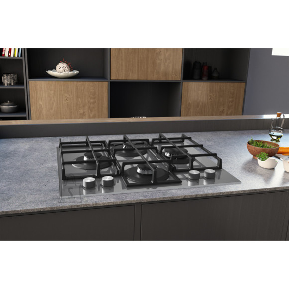 Hotpoint Hob HAGS 61F/WH Built-In Gas Hob, Number of burners/cooking zones 4, Mechanical, White