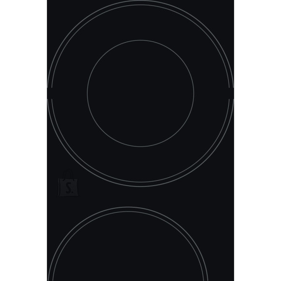Hotpoint HR 632 B Electric, Number of burners/cooking zones 4, Touch control, Timer, Black
