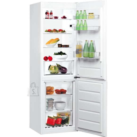 Indesit INDESIT Refrigerator LI8 S1E W A+, Free standing, Combi, Height 188.9 cm, Fridge net capacity 228 L, Freezer net capacity 111 L, 39 dB, White