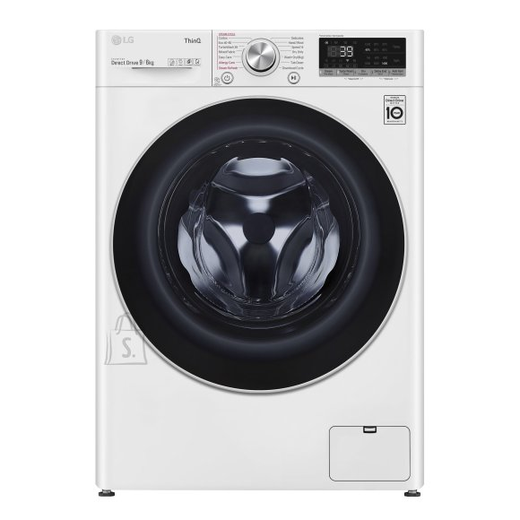 LG LG Washing Machine With Dryer F4DV709S1E Energy efficiency class A, Front loading, Washing capacity 9 kg, 1400 RPM, Depth 56.5 cm, Width 60 cm, Display, LED, Drying system, Drying capacity 6 kg, Steam function, Direct drive, NFC, Wi-Fi, White